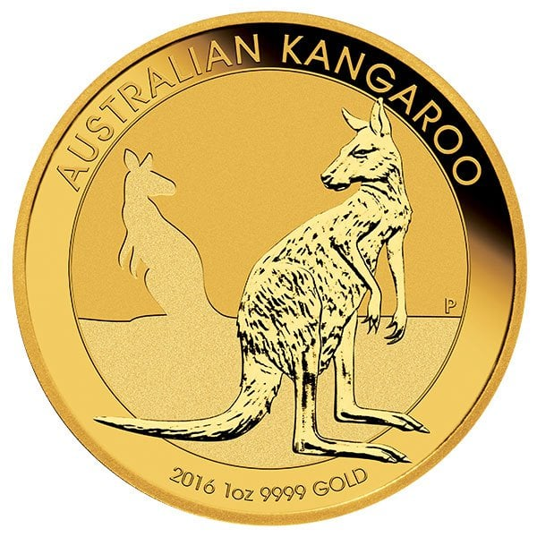 Australian Kangaroo gold bullion 1oz 2016