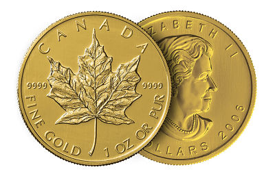 Canadian Maple Leaf gold bullion 1oz