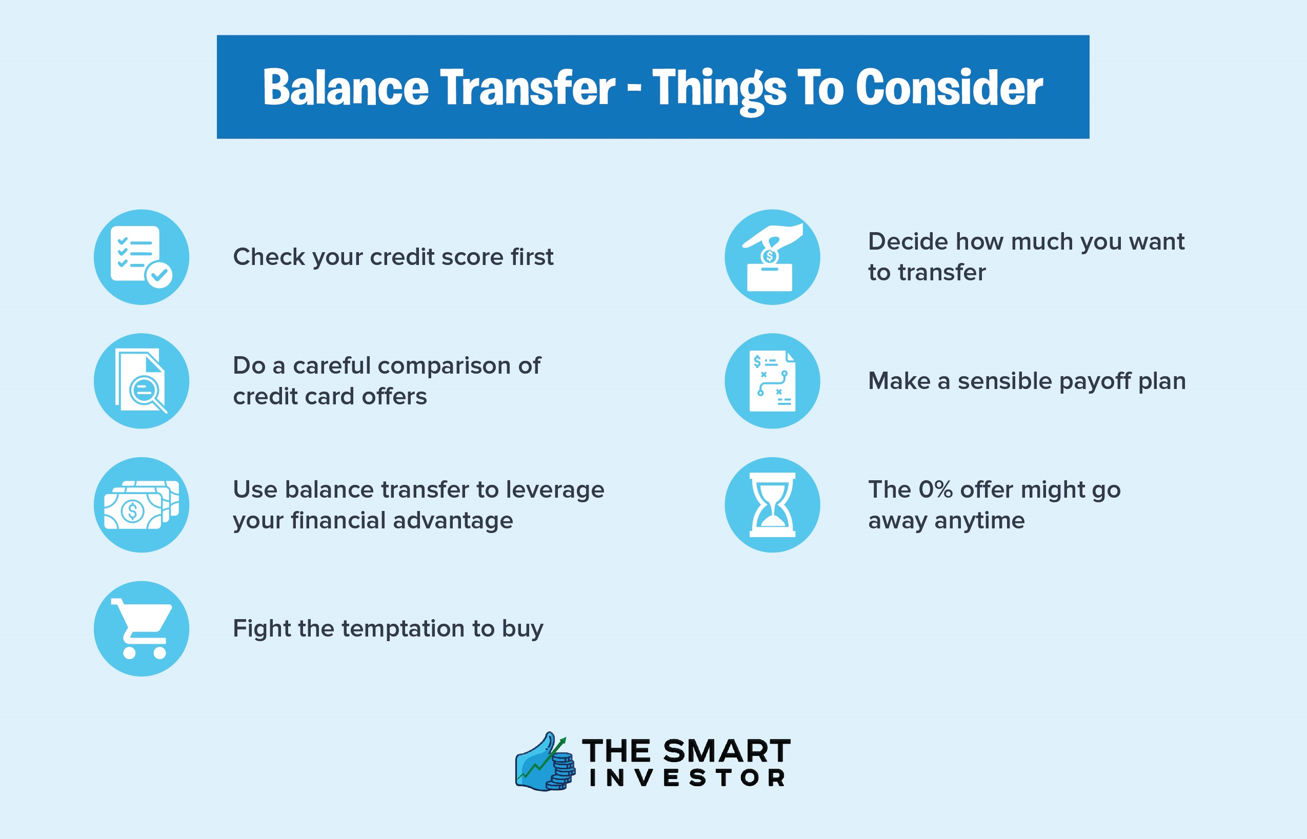 balance transfer - things to consider