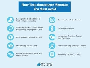 first time homebuyers mistakes to avoid