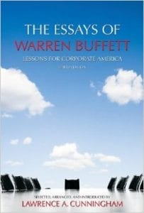 "review of the book ""The Essays of Warren Buffett"" by Lawrence Cunningham."