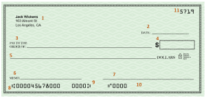 how a check should look like