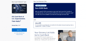 American Express Blue Cash_Apply now