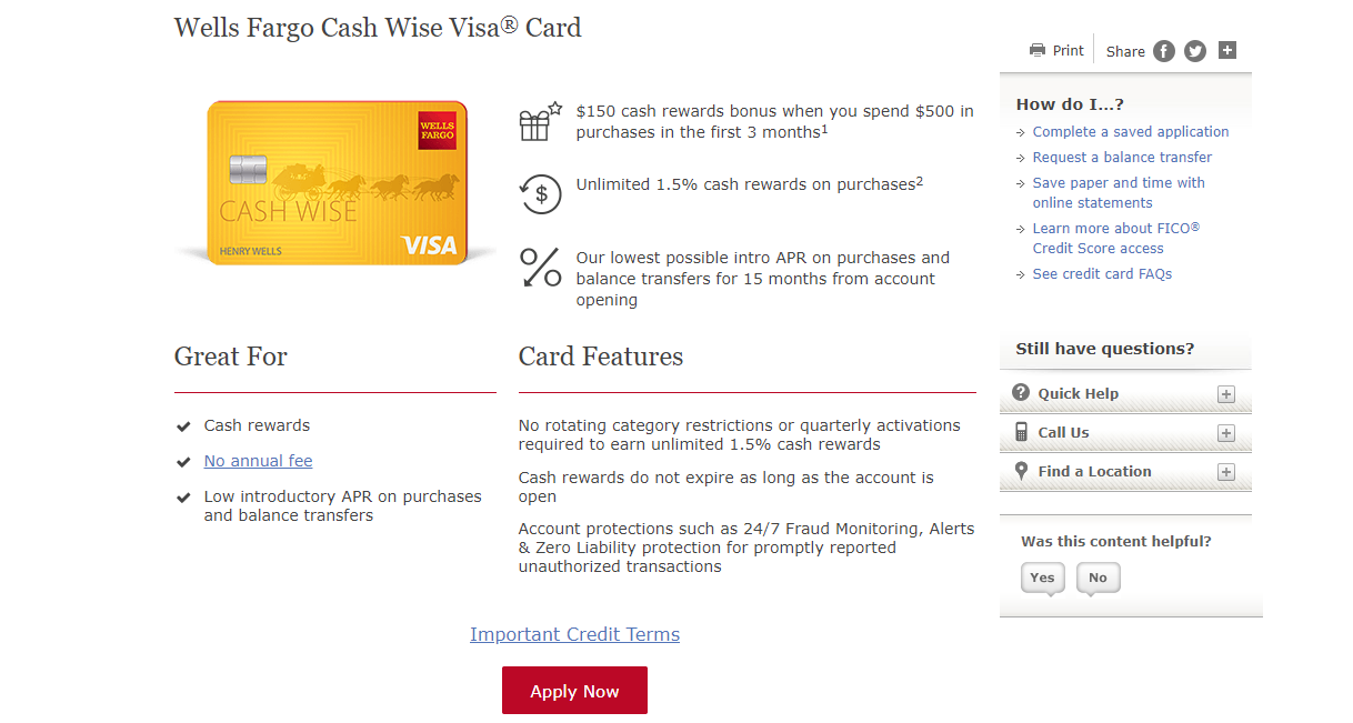 Wells Fargo Cash Wise Visa Credit Card Review 8 - The Smart