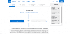 American Express National Bank_Create a new account