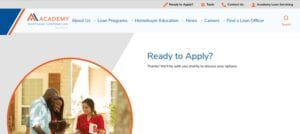 Academy mortgage application process - 3
